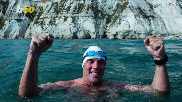 Daredevil Swimmer Becomes First Person To Swim Under Antarctic Ice Sheet Only Wearing Swim Trunks!