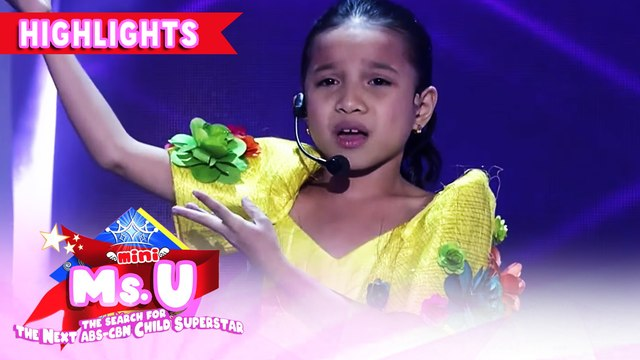 Mini Miss U candidate delivers a poem about Taal | It's Showtime Mini Miss U