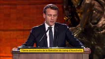 """La Shoah ne peut être utilisée pour """"justifier"""" la """"division"""" ou la """"haine"""", déclare Emmanuel Macron"""