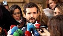 Casado amenaza a Sánchez con llevarle a los tribunales si no cancela su reunión con Torra