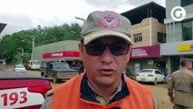 Bombeiro fala sobre relatório do serviço geológico do Brasil
