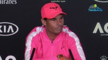 "Open d'Australie 2020 - Rafael Nadal imitated by Nick Kyrgios : ""I don't really care ... was it funny at least?"""