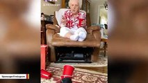 92-Year-Old Grandma Aces Solo Cup Challenge On Her Birthday