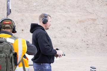Dakota Meyer First the First Shot of Industry Day at the Range