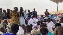 Ancien stade de Mbacké : Pose de la première pierre du daara et de la mosquée