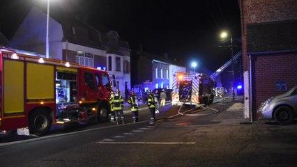 Une maison en feu à la rue de Najauge, Viroinval (23.01.20)
