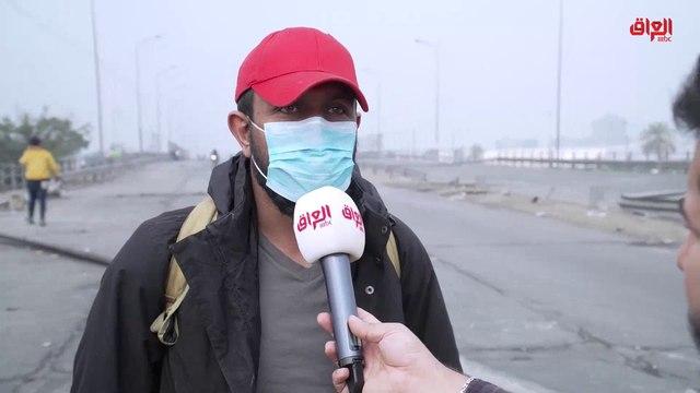 أحد المتظاهرين في محمد القاسم: إذا لم تستجب الحكومة لمهلة الناصرية فسيكون التصعيد أكثر شدة