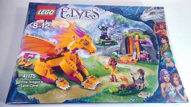 LEGO 41175 Fire Dragon's Lava Cave LEGO Elves Speed Build yellow dragon