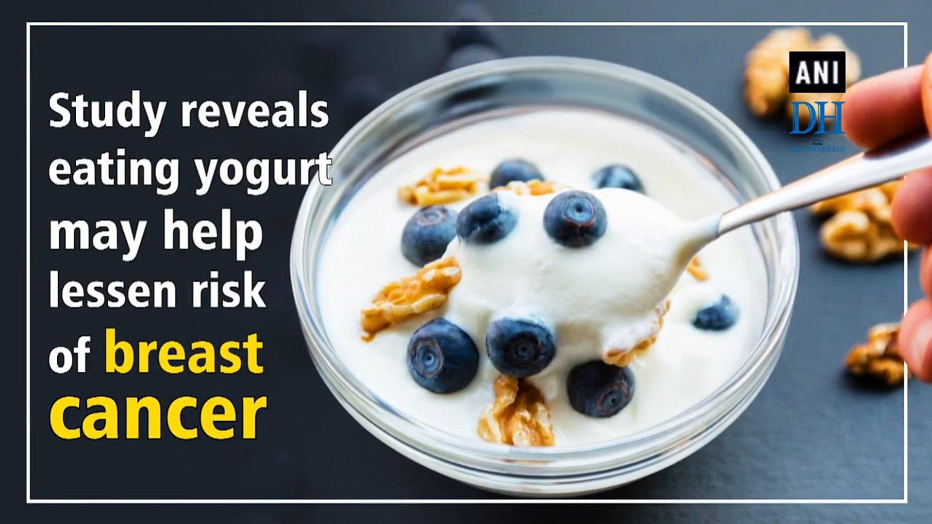 Study reveals eating yogurt may help lessen risk of breast cancer
