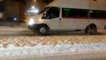 Safranbolu'da yoğun kar yağışı ulaşımı aksattı