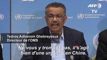 Le virus apparu en Chine n'est pas encore une urgence internationale (OMS)