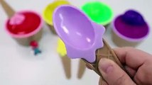 Finger Song Learn Colors Slime Ice Cream Cups Surprise Toys For Children Kid
