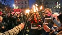 Réforme des retraites : des manifestations à la lueur des flambeaux