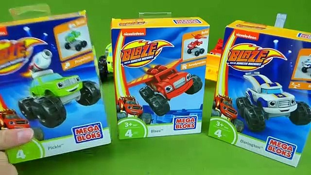 Blaze and the Monster Machines Mega Bloks Toys Pickle Darington Crusher Monster Truck Mix and Match