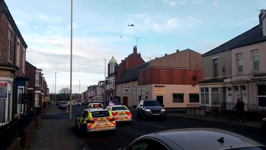 Chichester Road horror smash - helicopter at scene