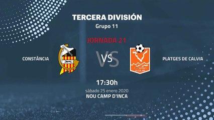 Previa partido entre Constància y Platges de Calvia Jornada 21 Tercera División
