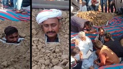 दौसा में सांसद किरोड़ीलाल मीणा की मौजूदगी में 102 किसानों ने ली समाधि