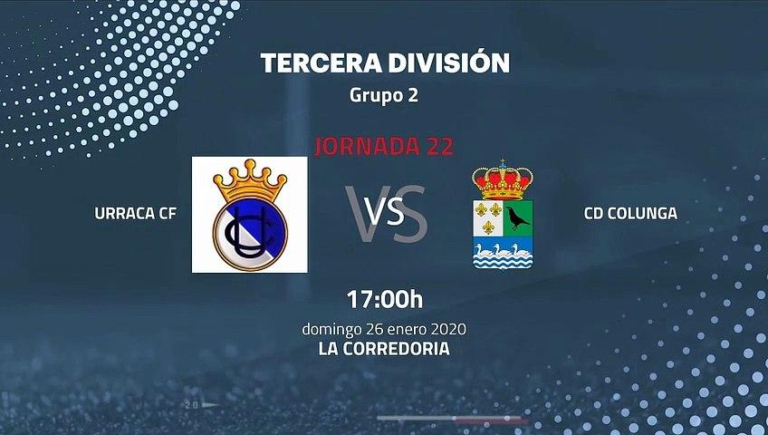 Previa partido entre Urraca CF y CD Colunga Jornada 22 Tercera División