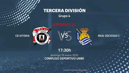 Previa partido entre CD Vitoria y Real Sociedad C Jornada 22 Tercera División
