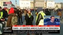 Retraites : A Paris, le cortège est arrivé place de la Concorde  - VIDEO