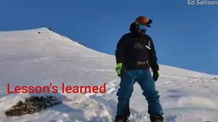 Il filme un snowboarder emporté par une avalanche