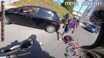 Best of motards Français  Motard VS chien & chat