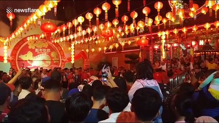 Lion and dragon dancers on show in Padang as city begins Chinese New Year celebrations