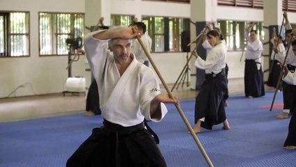 Jo class, Bruno Gonzalez Djakarta Aikido seminar, Indonesia 2017  Part 4 9