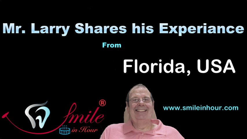 Florida, USA Patient shares his Review on Smile on Hour Ahmedabad, India