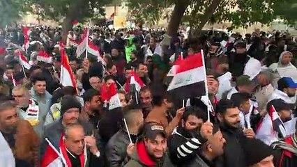 الآلاف يتظاهرون في بغداد ضد التواجد الأميركي في العراق