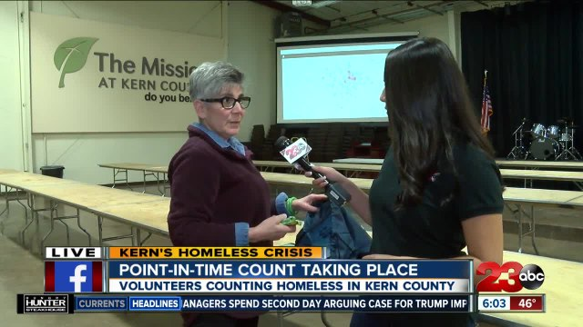 Point-in-time homeless count