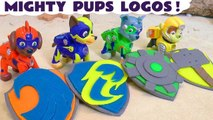 Paw Patrol Mighty Pups Play Doh Logos with Marvel Avengers 4 Funny Funlings and DC Comics The Riddler Family Friendly Full Episode English