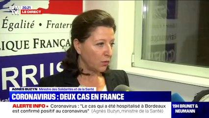 """Agnès Buzyn après la détection de deux cas de coronavirus en France: """"ce qui compte, c'est de circonscrire l'incendie le plus vite possible"""""""