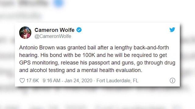 Antonio Brown Free From Jail After Posting Bond