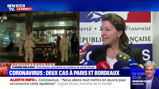 """Cas de coronavirus en France: selon Carine Milcent, spécialiste du système de santé chinois """" il ne faut pas non plus tomber dans une psychose"""""""