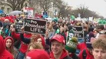 Trump busca captar el voto provida en una multitudinaria marcha en Washington