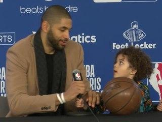 Paris Game - Le fils de Nicolas Batum fait le show en conférence de presse