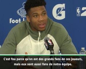 Paris Game - Giannis : ''Voir Neymar et Mbappé dans la salle, c'est dingue''