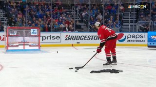 Jaccob Slavin shows off the precision to win Accuracy Shooting