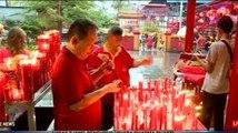Suasana Perayaan Imlek di Vihara Dharma Bhakti