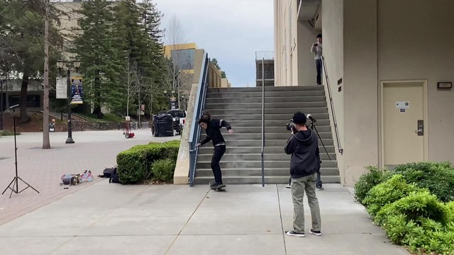 Skateboarder Jumping Over Flight of Stairs Faceplants Hard onto Concrete