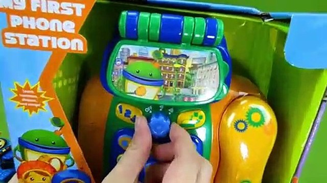 Team Umizoomi My First Phone Station Ninja Bot Umicop Police Officer Geo Milli Toys Video for Kids