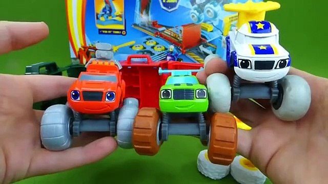 Blaze and the Monster Machines Toys Tune Up Tires Crusher Darington Silly Tires Toys