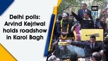 Delhi polls: Arvind Kejriwal holds roadshow in Karol Bagh