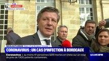"""Coronavirus: le patient hospitalisé à Bordeaux """"n'a pas beaucoup fréquenté de lieux de vie"""", assure le maire"""