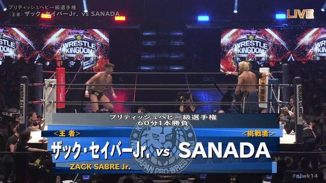 60fps / Zack Sabre Jr. (C/V1) VS SANADA '20.1.5 [British Heavyweight Championship Match] [WORLD PRO-WRESTLING LIVE 2020 ~ WRESTLE KINGDOM 14 in TOKYO DOME]