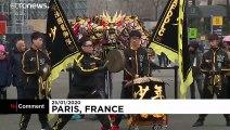 La tour Eiffel à l'heure du Nouvel an chinois