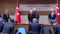 İstanbul-cumhurbaşkanı erdoğan atatürk havalimanı'nda konuşuyor
