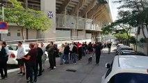 Colas en las taquillas del Heliodoro por las entradas del CD Tenerife-Athletic