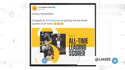 LeBron moves up to third in NBA all-time scoring list